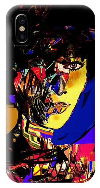 Mustard iPhone Case - The Abstract Woman by Natalie Holland