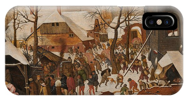 Barn Snow iPhone Case - The Adoration Of The Magi by Pieter the Younger Brueghel