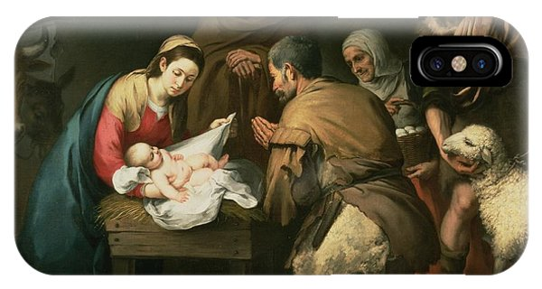 The Adoration Of The Shepherds IPhone Case