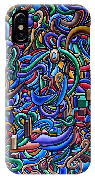 Colorful Abstract Art Abstract Painting Colorful Chromatic Acrylic Painting IPhone Case
