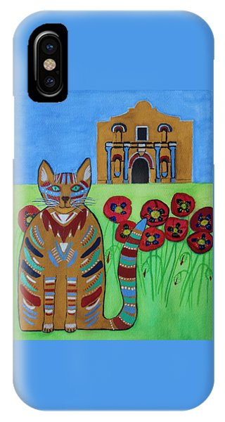 the Alamo Cat IPhone Case