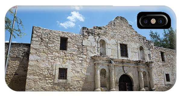 IPhone Case featuring the photograph The Alamo Texas by Steven Frame