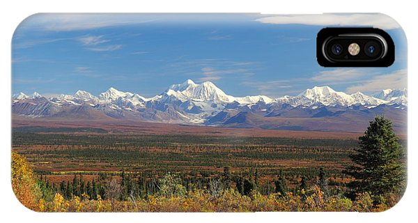 The Alaska Range From The Denali Highway IPhone Case