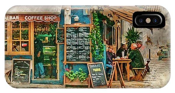 The Albar Coffee Shop In Alvor. IPhone Case