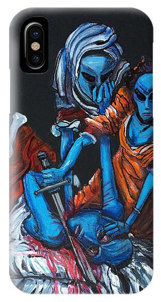 The Alien Judith Beheading The Alien Holofernes IPhone Case