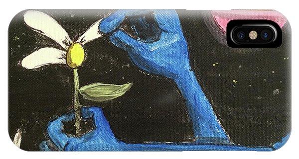 The Alien Loves Me... The Alien Loves Me Not IPhone Case