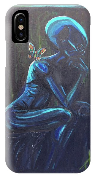 The Alien Thinker IPhone Case