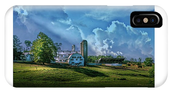 Silos iPhone Case - The Amish Farm by Marvin Spates