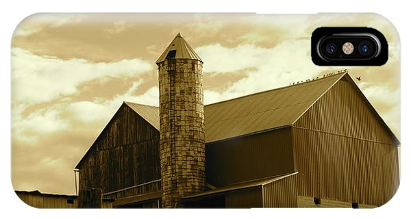 The Amish Silo Barn IPhone Case