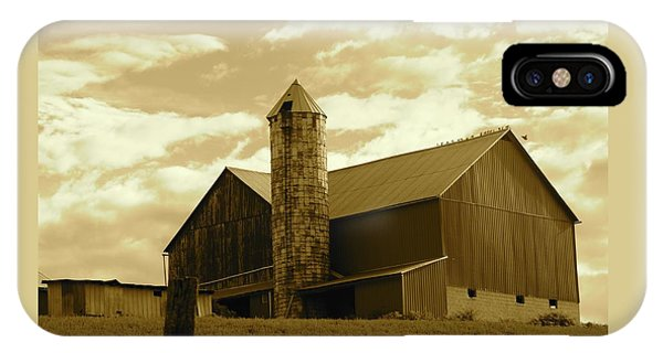The Amish Silo Barn IPhone Case