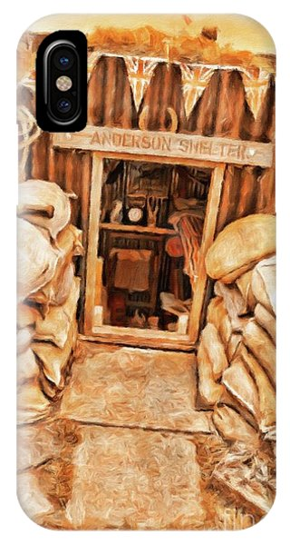 Wwi iPhone Case - The Anderson Shelter By Sarah Kirk by Sarah Kirk