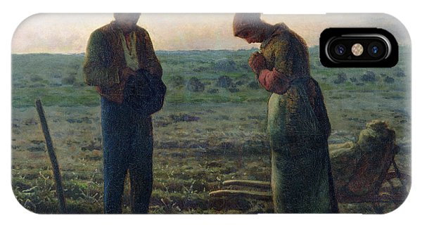 Vegetables iPhone Case - The Angelus by Jean-Francois Millet