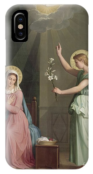 Christianity iPhone Case - The Annunciation by Auguste Pichon