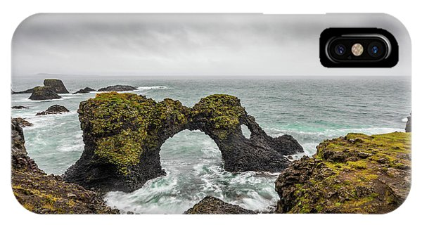 IPhone Case featuring the photograph The Arch At Gatklettur by Rikk Flohr