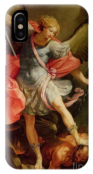 Oil iPhone Case - The Archangel Michael Defeating Satan by Guido Reni