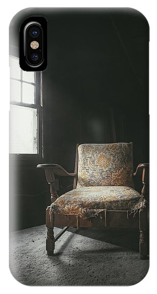 Wood Floor iPhone Case - The Armchair In The Attic by Scott Norris