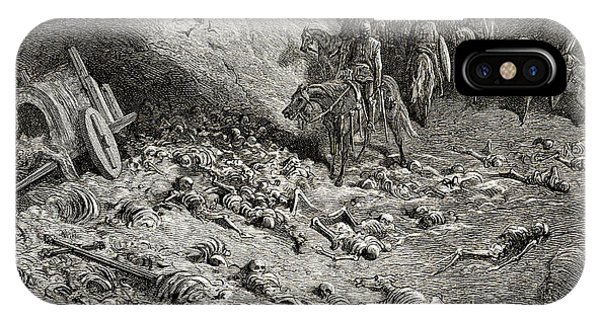 Bone iPhone Case - The Army Of The Second Crusade Find The Remains Of The Soldiers Of The First Crusade by Gustave Dore
