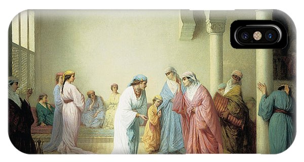 The Arrival Into The Harem At Constantinople IPhone Case