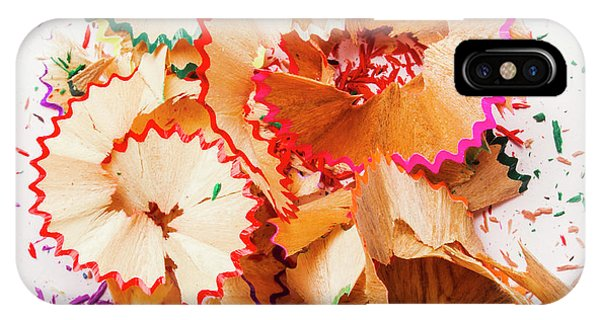 Coloured Pencil iPhone Case - The Art Of Pencil Shavings by Jorgo Photography - Wall Art Gallery