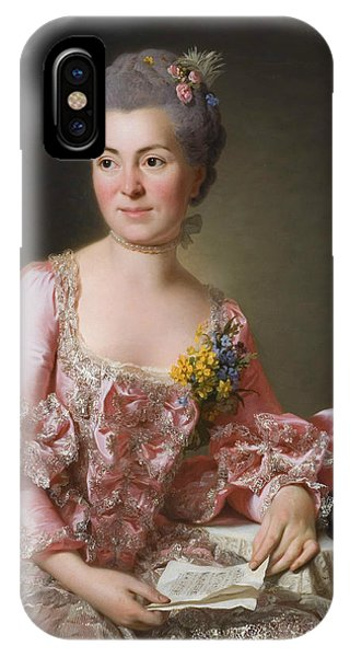 Swedish Painters iPhone Case - The Artist Marie Suzanne Giroust by Alexander Roslin