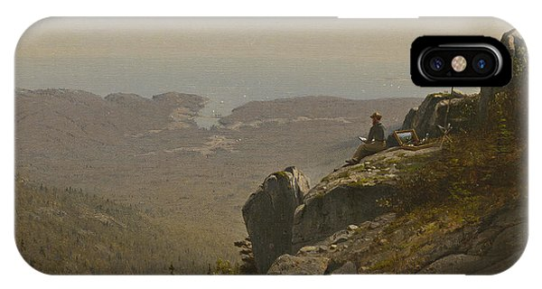 At Work iPhone Case - The Artist Sketching At Mount Desert by Sanford Robinson Gifford