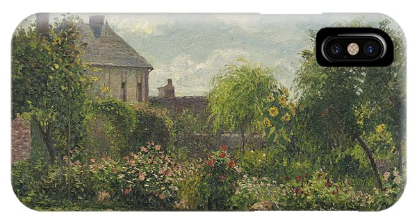 iPhone Case - The Artist's Garden At Eragny by Camille Pissarro