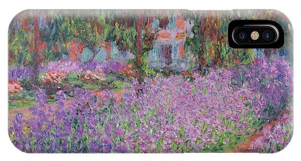 Impressionism iPhone X Case - The Artists Garden At Giverny by Claude Monet