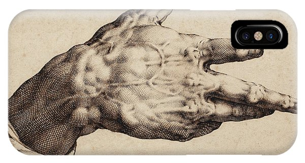 Baroque iPhone Case - The Artist's Right Hand by Hendrik Goltzius
