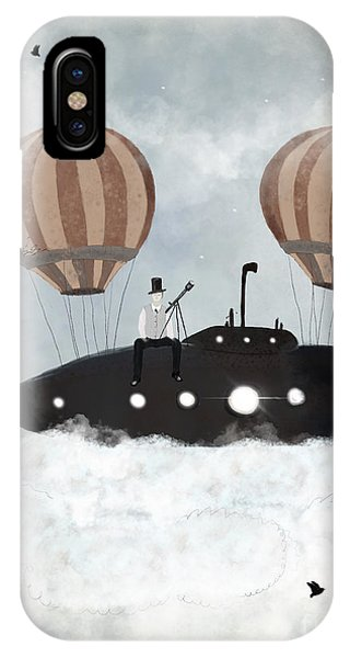 Hot Air Balloons iPhone Case - The Astrologer 2 Above The Clouds by Bri Buckley