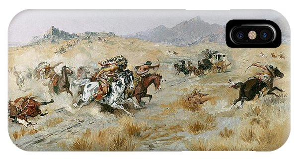 Shooting iPhone Case - The Attack by Charles Marion Russell