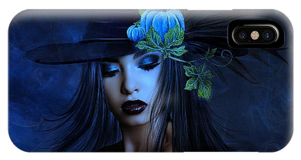 Gothic iPhone Case - The Autumn Witch 02 by G Berry