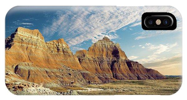 Rocky Mountain iPhone Case - The Badlands Of South Dakota by Tom Mc Nemar