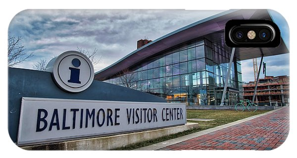 IPhone Case featuring the photograph The Baltimore Visitors Center by Mark Dodd