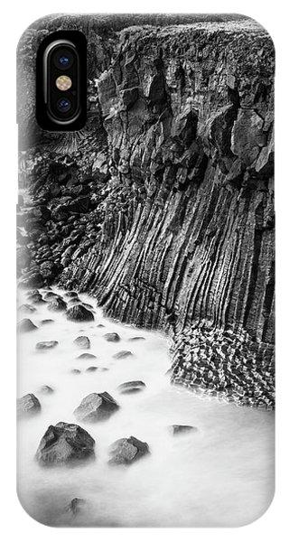 The Basalt Cliff Of Arnarstapi IPhone Case