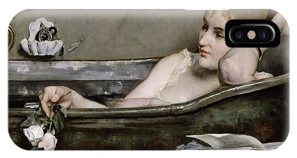 Impressionism iPhone X Case - The Bath by Alfred George Stevens