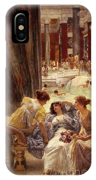 Columns iPhone Case - The Baths Of Caracalla by Sir Lawrence Alma-Tadema