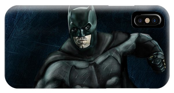 Ben Affleck iPhone Case - The Batman by Vinny John Usuriello
