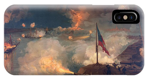 Mississippi River iPhone Case - The Battle Of Port Hudson, 1863  by American School