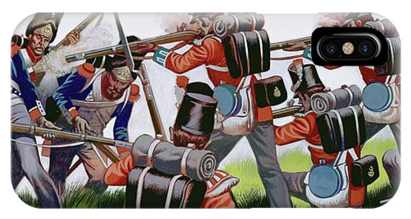 British Empire iPhone Case - The Battle Of Waterloo  Gouache On Paper by Ron Embleton
