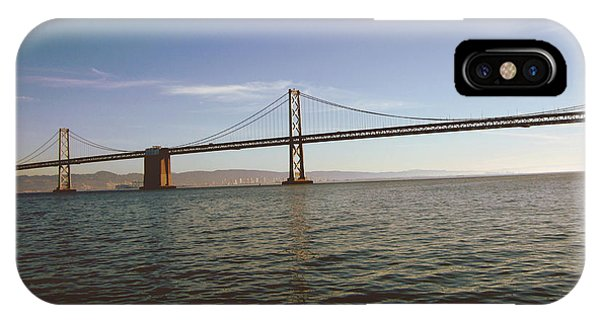 The Sky iPhone Case - The Bay Bridge- By Linda Woods by Linda Woods