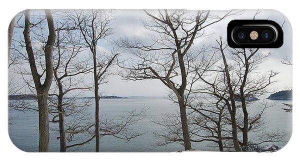 The Bay In Winter Phone Case by Faith Harron Boudreau