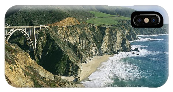 The Beach And Shoreline Along Highway 1 IPhone Case