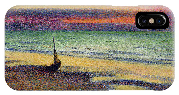 Impressionism iPhone X Case - The Beach At Heist by Georges Lemmen