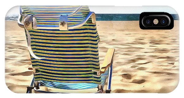 Chatham iPhone Case - The Beach Chair 2 by Edward Fielding