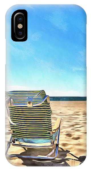 Chatham iPhone Case - The Beach Chair by Edward Fielding