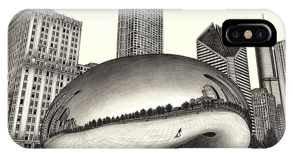 The Beach Chicago Drawing IPhone Case