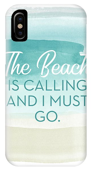 Watercolor iPhone Case - The Beach Is Calling- Art By Linda Woods by Linda Woods