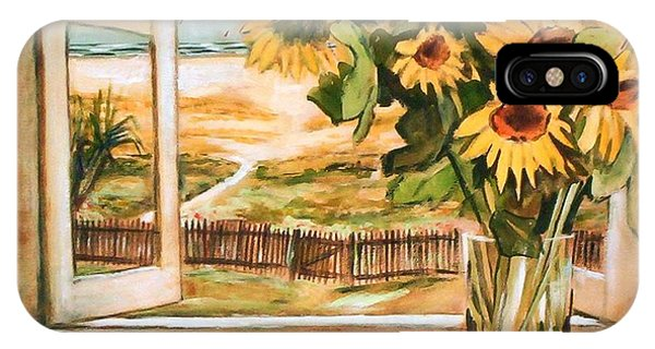 The Beach Sunflowers IPhone Case