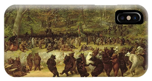 Proud iPhone Case - The Bear Dance by William Holbrook Beard