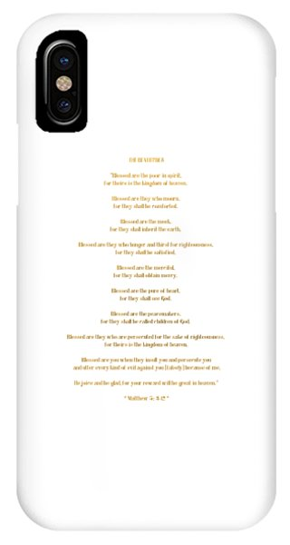 The Beatitudes Gospel Of Matthew IPhone Case